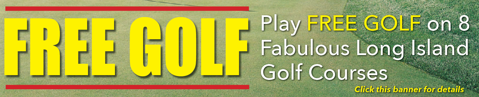 Play Free Golf Banner - Grass backround-PG